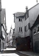 Straßenende in Richtung Süden (zur Kirchstraße) / Entengasse in 74354 Besigheim (Stadtarchiv Besigheim)