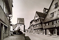 Ansicht von Süden / Hauptstraße in 74354 Besigheim (ca. 1960 - Stadtarchiv Besigheim)