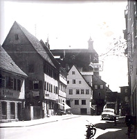 Mittlerer Abschnitt von Norden / Hauptstraße in 74354 Besigheim (ca. 1960 - Stadtarchiv Beigheim)
