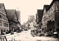 nsicht von Süden mit Eingang zur Vorstadt / Hauptstraße in 74354 Besigheim (ca. 1930 - Stadtarchiv Besigheim)