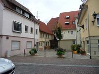 """Oberer Bereich, heute """"Schlosshof"""" / Kirchstraße in 74354 Besigheim (2017 - M. Haußmann)"""