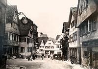 Mittlerer Berich, historische Aufnahme von Südpsten / Kirchstraße in 74354 Besigheim (ca. 1930 - Stadtarchiv Besigheim)
