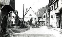 Türkengasse vor der Aufgabelung, links Nr. 5, rechts Nr. 6  um 1900 / Türkengasse in 74354 Besigheim (Stadtarchiv Besigheim)