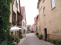 Blick nach Osten um 2003 / Türkengasse in 74354 Besigheim (2007 - Denkmalpflegerischer Werteplan,  Gesamtanlage Besigheim  Regierungspräsidium Stuttgart)
