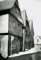 Blick nach Osten um 1970 / Türkengasse in 74354 Besigheim (M.Haußmann)