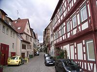 Bilck nach Westen / Stadtschreibereigasse in 74354 Besigheim (2007 - Denkmalpflegerischer Werteplan,  Gesamtanlage Besigheim  Regierungspräsidium Stuttgart)