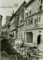 Bilck nach Westen um 1900 / Stadtschreibereigasse in 74354 Besigheim (Stadtarchiv Besigheim)