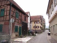 Blick nach Westen / Schulbrunnengasse in 74354 Besigheim (2007 - Denkmalpflegerischer Werteplan,  Gesamtanlage Besigheim  Regierungspräsidium Stuttgart)