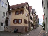 Bebauung der Südseite / Schulbrunnengasse in 74354 Besigheim (2007 - Denkmalpflegerischer Werteplan,  Gesamtanlage Besigheim  Regierungspräsidium Stuttgart)