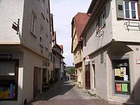 Blick nach Osten / Schlossgasse in 74354 Besigheim (2007 - Denkmalpflegerischer Werteplan,  Gesamtanlage Besigheim  Regierungspräsidium Stuttgart)