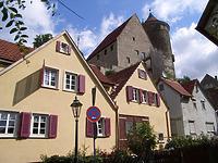 Südseite bei Haus Nr.17 / Ochsengraben  in 74354 Besigheim (2007 - Denkmalpflegerischer Werteplan,  Gesamtanlage Besigheim  Regierungspräsidium Stuttgart)