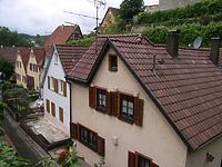 Blick von der Brücke (Turmstraße)  / Ochsengraben  in 74354 Besigheim (2007 - Denkmalpflegerischer Werteplan,  Gesamtanlage Besigheim  Regierungspräsidium Stuttgart)