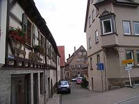 Blick von der Hauptsraße in die Mühlgasse nach Süden / Mühlgasse in 74354 Besigheim (2007 - Denkmalpflegerischer Werteplan,  Gesamtanlage Besigheim  Regierungspräsidium Stuttgart)
