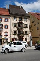 """Rottweil, Hochbrücktorstraße 17- Westansicht / Gasthaus """"Zum goldenen Becher"""" in 78628 Rottweil (Landesamt für Denkmalpflege Freiburg, Bildarchiv)"""