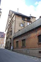 """Rottweil, Hochbrücktorstraße 17- Südseite / Gasthaus """"Zum goldenen Becher"""" in 78628 Rottweil (Landesamt für Denkmalpflege Freiburg, Bildarchiv)"""