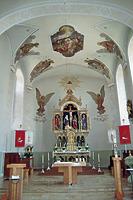 Innenansicht Chor / Kath. Pfarrkirche SS. Cosmas u. Damian in 79361 Sasbach-Jechtingen (Fotoarchiv Freiburg, Landesamt für Denkmalpflege)