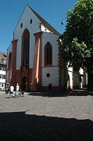 Ansicht Westfassade / Kath. Pfarrkirche St. Martin in 79098 Freiburg im Breisgau,  keine genauere Zuordnung (Bildarchiv Freiburg, Landesamt für Denkmalpflege)