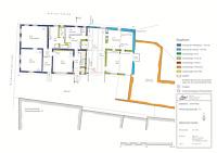 Bauphasenplan  zum Erdgeschossgrundriss / Streckgehöft in 71394 Kernen-Stetten, Stetten im Remstal (2011 - Markus Numberger, Esslingen)