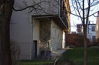 Rest der Stadtmauer, Ansicht West / Abgegangenes Wohnhaus (Rest der Stadtmauer und Gewölbekeller) in 89584 Ehingen, Ehingen (Donau) (15.02.2019 - Christin Aghegian-Rampf)