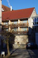 Rest der Stadtmauer, Ansicht Lindenstraße / Abgegangenes Wohnhaus (Rest der Stadtmauer und Gewölbekeller) in 89584 Ehingen, Ehingen (Donau) (15.02.2019 - Christin Aghegian-Rampf)