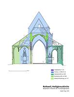 Bauphasen im Bereich der Triumphbogenwand / Heilig-Kreuz-Münster in 78628 Rottweil (Stefan King)