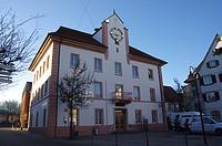 Rathaus, Nordostansicht / Rathaus (Turm) in 89584 Ehingen (Donau) (15.02.2019 - Christin Aghegian-Rampf)