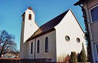 Nordwestansicht / Ev. Kirche in 78073 Bad Dürrheim-Oberbaldingen (Landesamt für Denkmalpflege, Dienstsitz Freiburg,  Ref. 82, 83.3)