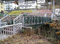 Nordostansicht / Schiltachbrücke (Gusseisensteg) in 78713 Schramberg (Landesamt für Denkmalpflege, Dienstsitz Freiburg,  Ref. 82, 83.3)