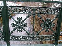 Detail Geländer / Schiltachbrücke (Gusseisensteg) in 78713 Schramberg (Landesamt für Denkmalpflege, Dienstsitz Freiburg,  Ref. 82, 83.3)