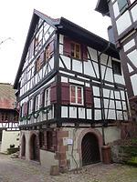 Nordwestansicht / Sog. Strumpfweberhaus in 77761 Schiltach (Bildarchiv Freiburg, Landesamt für Denkmalpflege)