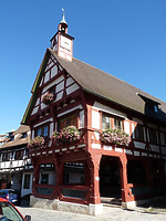 Südwestansicht / Rathaus in 78570 Mühlheim an der Donau (Bildarchiv, Landesamt für Denkmalpflege, Dienstsitz Freiburg)