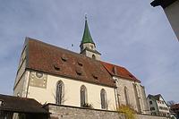 Ansicht von Süden.  / Evang. Pfarrkirche St. Michael in 72119 Ammerbuch, Entringen ( 25.03.2011 - Foto: Tilmann Marstaller)