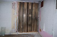 1.OG. Stube Nordwand. Wandvertäfelung, Fugenleisten abgängig. / Wohnhaus von Gerbern und Tagelöhner in 88440 Biberach an der Riß