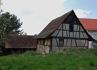 Fachwerkbau um 1811 (d). / Backhaus in 88682 Neufrach