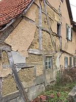 Westfassade. Zustand 2017. / Wohnstallhaus in 72660 Beuren (19.4.2017 - Martin Schweizer, Beuren.)