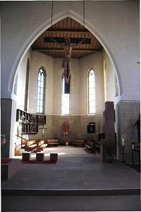 Blick in den Chorraum / Kath. Pfarrkirche St. Michael in 88367 Hohentengen (W. Mayer)