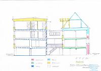 Querschnitt / Vorder- und Hofgebäude in 78426 Konstanz (2020 - Burghard Lohrum)
