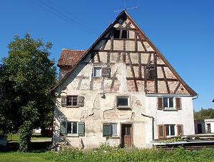 Ehem. Zehntscheuer, Ostansicht / Ehemalige Zehntscheuer in 88447 Warthausen-Oberhöfen (Stefan Uhl)