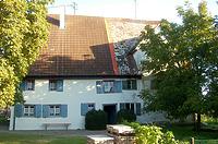 Ehem. Zehntscheuer, Südansicht / Ehemalige Zehntscheuer in 88447 Warthausen-Oberhöfen (09.2020 - Stefan Uhl)