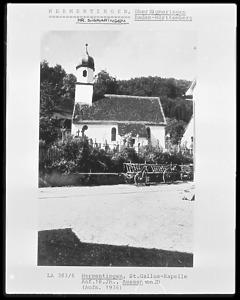 Südansicht / Kath. Kirche St. Gallus in 72519 Veringenstadt-Hermentingen (1920-37 - Bildarchiv Foto Marburg / Foto: unbekannt; Aufn.-Datum: um 1920/1937?)