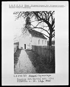 St. Martin, Wald-Kappel / Kapelle St. Martin in 88639 Wald-Kappel (um 1920/1937? - Bildarchiv Foto Marburg / Foto: unbekannt)