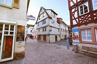 Ansicht des Gebäudes von der Hospitalgasse her. / Wohnhaus in 74821 Mosbach (06.2018 - Dipl.-Ing. Stefan King, Freiburg)