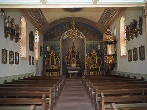 Kirchenraum nach Abschluss der konservierenden Maßnahmen / Kirche St. Nikolaus in 78120 Furtwangen - Schönenbach (02.04.2019 - B. Wink)