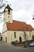 Ansicht von Süden.  / Pfarrkirche St. Antholianus in 70794 Filderstadt, Plattenhardt (26.02.2008 - Foto: Tilmann Marstaller)