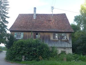 Westansicht / Ehem. Wohnhaus in 74547  Untermünkheim, Obermünkheim (07.2021 - Kraft+Kraft Architekten)