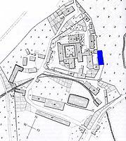 Gesamtplan von Bebenhausen (nach dem Urkatasterplan von 1825)  / Kapfscher Bau (Infirmerie) in 72074 Tübingen-Bebenhausen