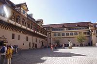 Innenhof, Ecke Süd-Westflügel / Schloss Hohentübingen in 72070 Tübingen (21.09.2019 - Christin Aghegian-Rampf)