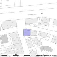 Lageplan (Vorlage: LV-BW und LAD) / Fachwerkhaus in 72070 Tübingen