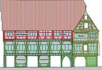 Bauphasenplan, Ansicht Süd / ehem. Kornhaus in 72070 Tübingen (28.01.2015 - Tilman Marstaller)