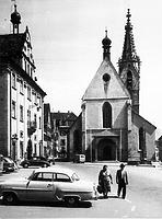Ansicht von West um 1960 (www.bildindex.de) / Dom St. Martin in 72108 Rottenburg am Neckar